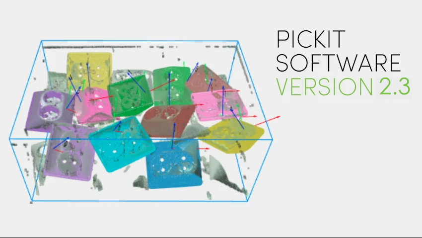 Software release 2.3: Use Pickit to detect flat objects and define your tool model from a CAD file