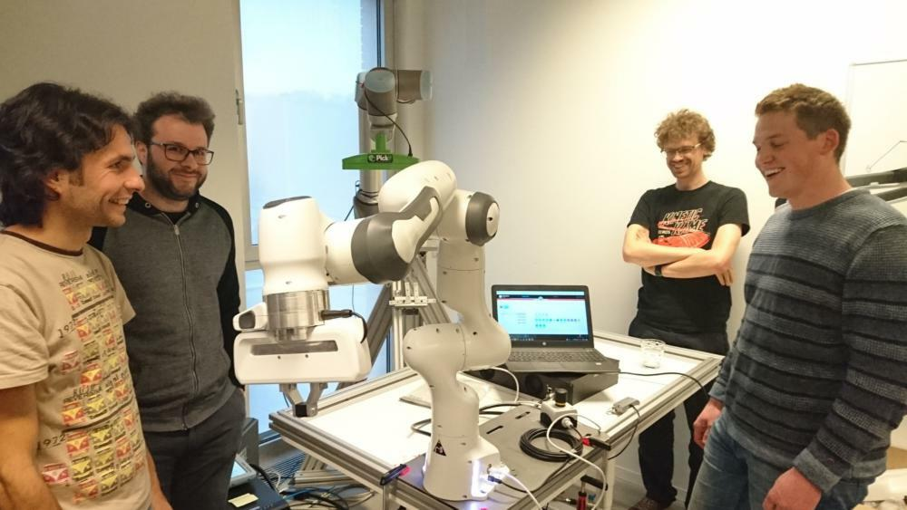 We were visited by the Franka robot