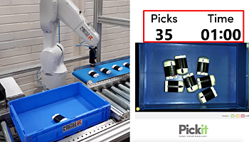 Fast bin picking with Pickit and ABB