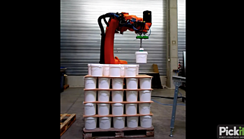 Robot unloads a pallet removing in-between layers